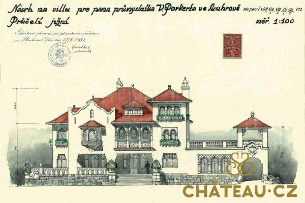 Porkertova vila plany Chateau000